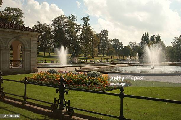 venetian gardens hyde park - hyde park london stock photos and pictures