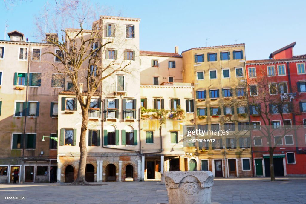 Venetian Ghetto Main Square Sunlit Facades High-Res Stock Photo - Getty  Images