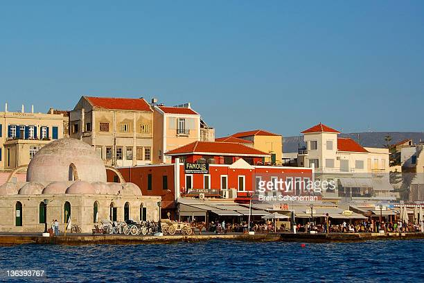 Venetian Harbor of Chania at Crete, Greece