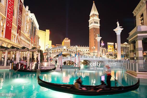 Venetian hotel with gondolas, Las Vegas, US