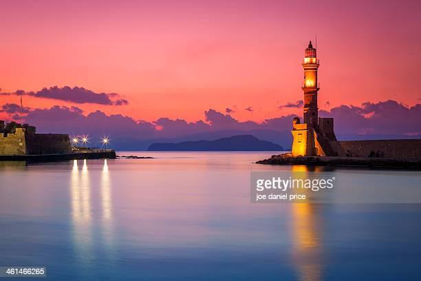 Venetian Lighthouse at Chania, Crete, Greece