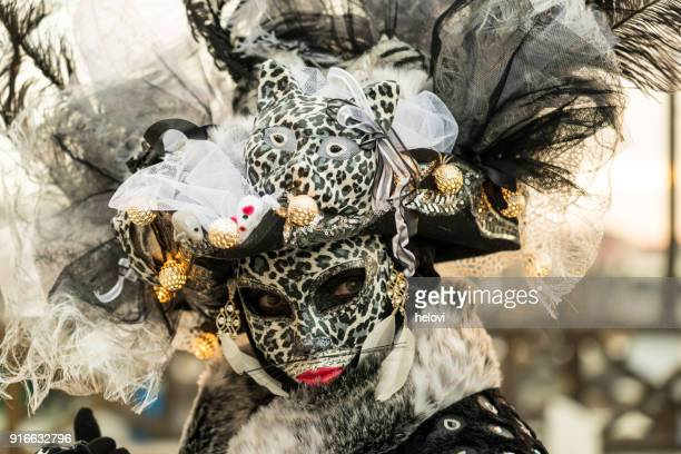 venetian mask 2018 - venice carnival stock pictures, royalty-free photos & images