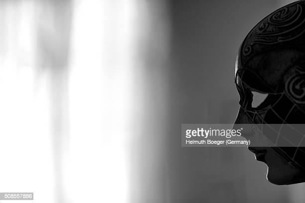 A Venetian Mask in back light