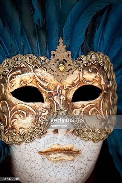 venetian masks for mardi gras; venice mask in italy - gras bildbanksfoton och bilder