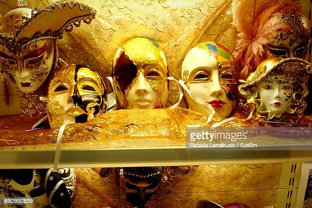 venetian masks for sale at store - monaco stock pictures, royalty-free photos & images