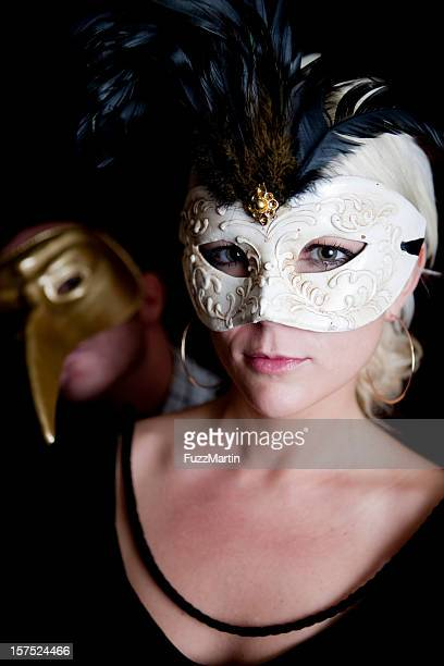 venetian masks - evening ball stock pictures, royalty-free photos & images