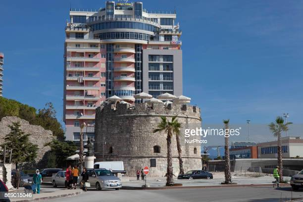Venetian tower in Durres Albania on 31 October 2017 Durres is the largest port and second largest city and amunicipalityofAlbania It is one of the...