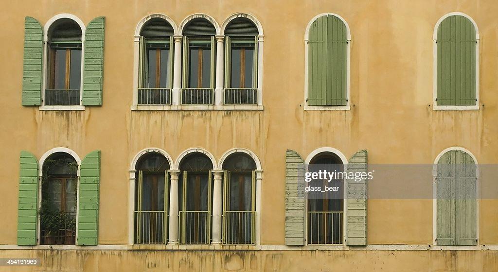 Venetian do windows : Foto de stock