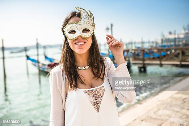 venetian woman for carnival in venice - mardi gras party stock photos and pictures
