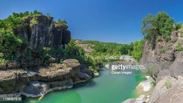 venetikos river in greece - thessaly stock pictures, royalty-free photos & images
