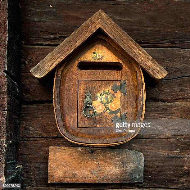 Veneto Italy, typical mailbox painted wood.