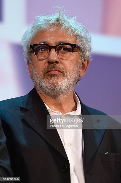 Venezia 71 jury member Elia Suleiman appears on stage during the opening ceremony at the 71st Venice Film Festival on August 27 2014 in Venice Italy