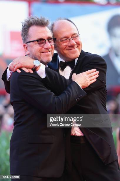 Venezia 71 Jury members Tim Roth and Carlo Verdone attends the Closing Ceremony of the 71st Venice Film Festival on September 6 2014 in Venice Italy