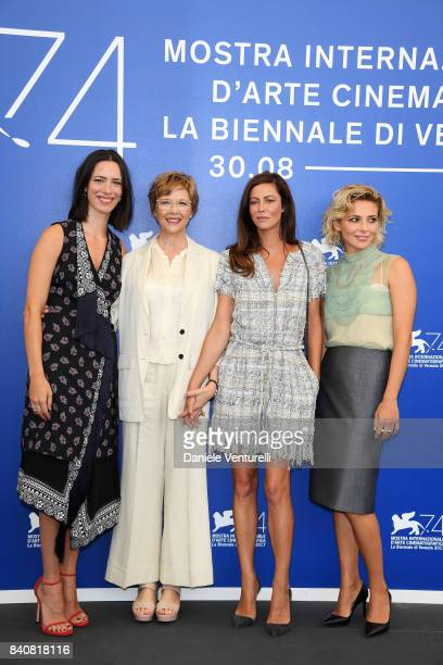 'Venezia 74' jury member Rebecca Hall president Annette Bening members Anna Mouglalis and Jasmine Trinca attend the Jury photocall during the 74th...
