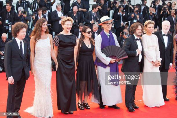 Venezia 74' jury members Michel Franco, Anna Mouglalis, president of the jury Annette Bening, Yonfan, Ildiko Enyedi, Edgar Wright, Jasmine Trinca and...