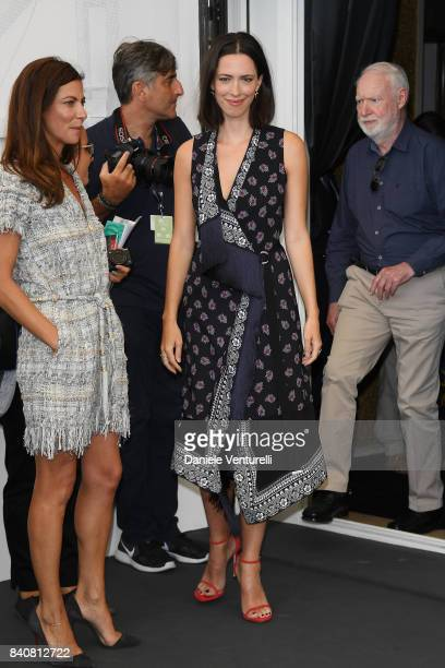 'Venezia 74' jury members Rebecca Hall and Anna Mouglalis attend the Jury photocall during the 74th Venice Film Festival at Sala Casino on August 30...