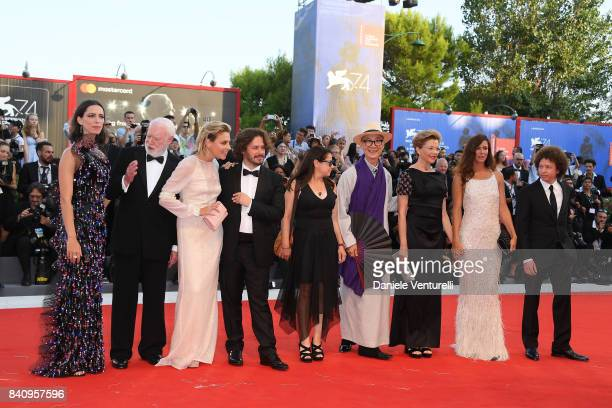 'Venezia 74' jury members Rebecca Hall David Stratton Jasmine Trinca Edgar Wright Ildiko Enyedi Yonfan president of the jury Annette Bening members...