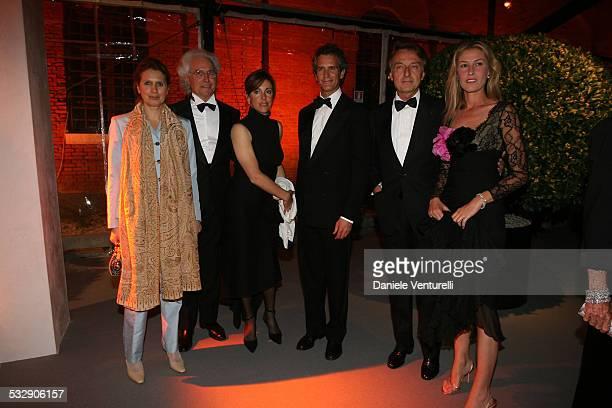 Venezia a Palazzo Grassi Francois Pinault innaugura la Mostra ' Where Are We Going' Luciano Benetton con la compagna Laura Alessandro Benetton e la...