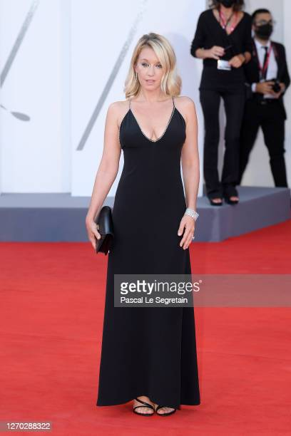 "Venezia77 Jury Member Ludivine Sagnier walks the red carpet ahead of the Opening Ceremony and the ""Lacci"" red carpet during the 77th Venice Film..."