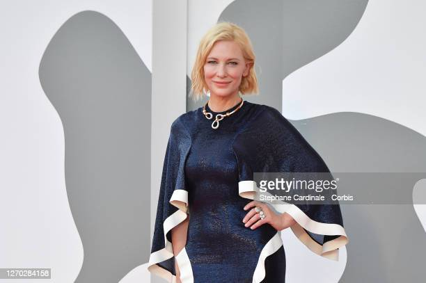 """Venezia77 Jury President Cate Blanchett walks the red carpet ahead of the Opening Ceremony and the """"Lacci"""" red carpet during the 77th Venice Film..."""