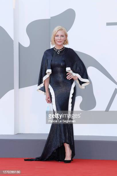 "Venezia77 Jury President Cate Blanchett walks the red carpet ahead of the Opening Ceremony and the ""Lacci"" red carpet during the 77th Venice Film..."