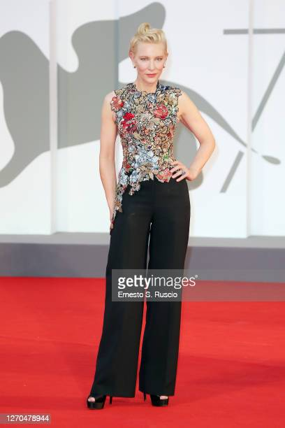 """Venezia77 Jury President Cate Blanchett walks the red carpet ahead of the movie """"Amants"""" at the 77th Venice Film Festival at on September 03, 2020 in..."""