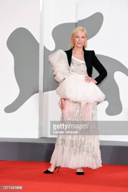 """Venezia77 Jury President Cate Blanchett walks the red carpet ahead of the movie """"Di Yi Lu Xiang"""" at the 77th Venice Film Festival on September 08,..."""