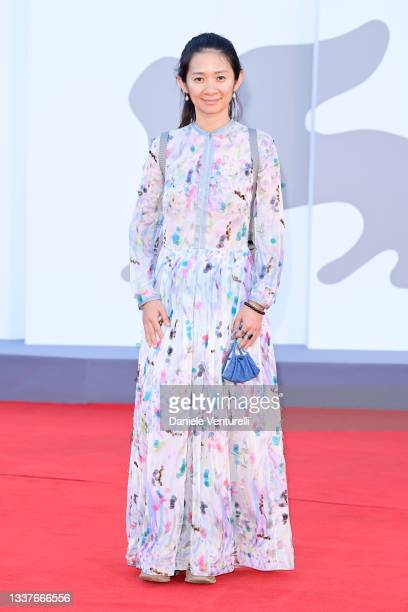 """Venezia78 Jury member Chloé Zhao attends the red carpet of the movie """"Madres Paralelas"""" during the 78th Venice International Film Festival on..."""