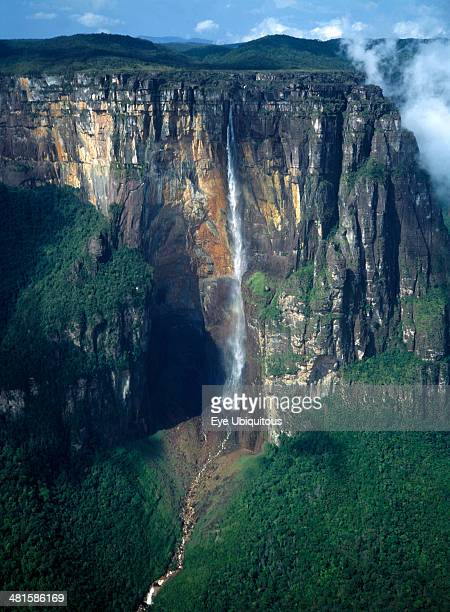 Venezuela Bolivar State Canaima National Park Angel Falls or Kerepakupai Mer in the indigenous Pemon language the tallest waterfall in the world...