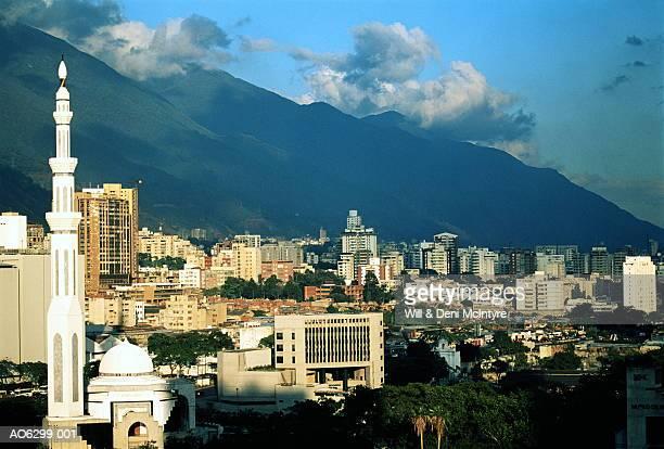venezuela, caracas, view over city from museum de bellas artes - カラカス ストックフォトと画像