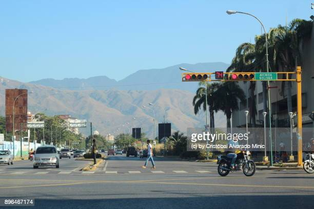 Venezuela, Maracay, View Of Avenue