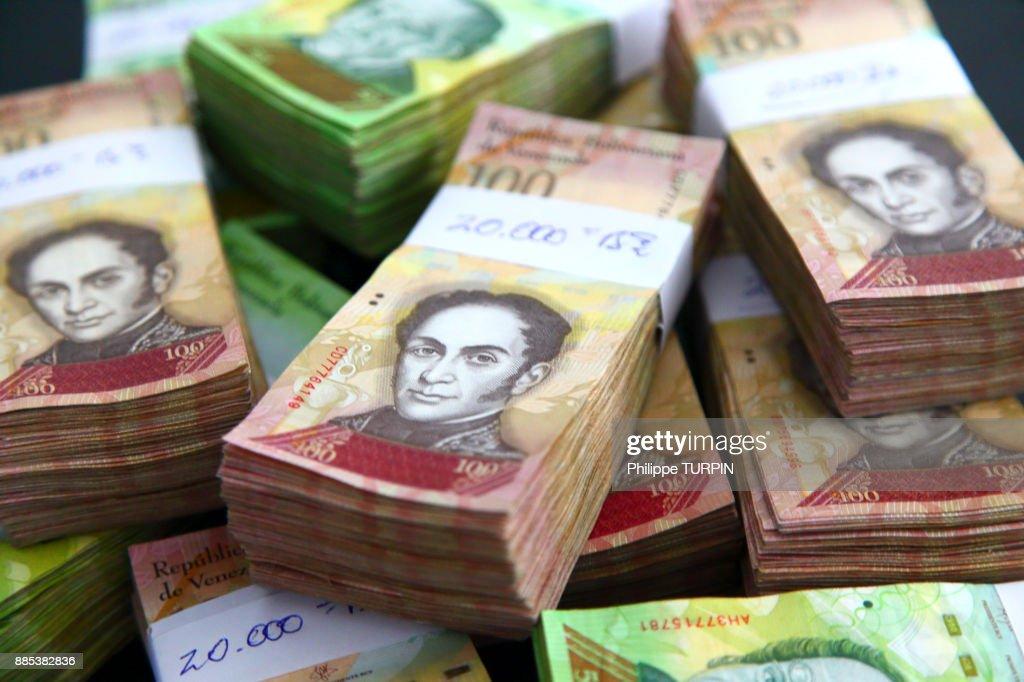 Venezuela. Money problems : Stock Photo