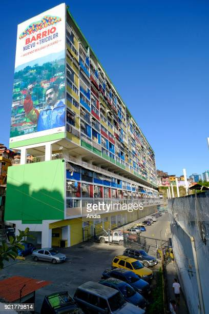 buildings constructed within the framework of the 'Gran Mision Vivienda Venezuela' governmental program launched by Hugo Chavez Building with the...