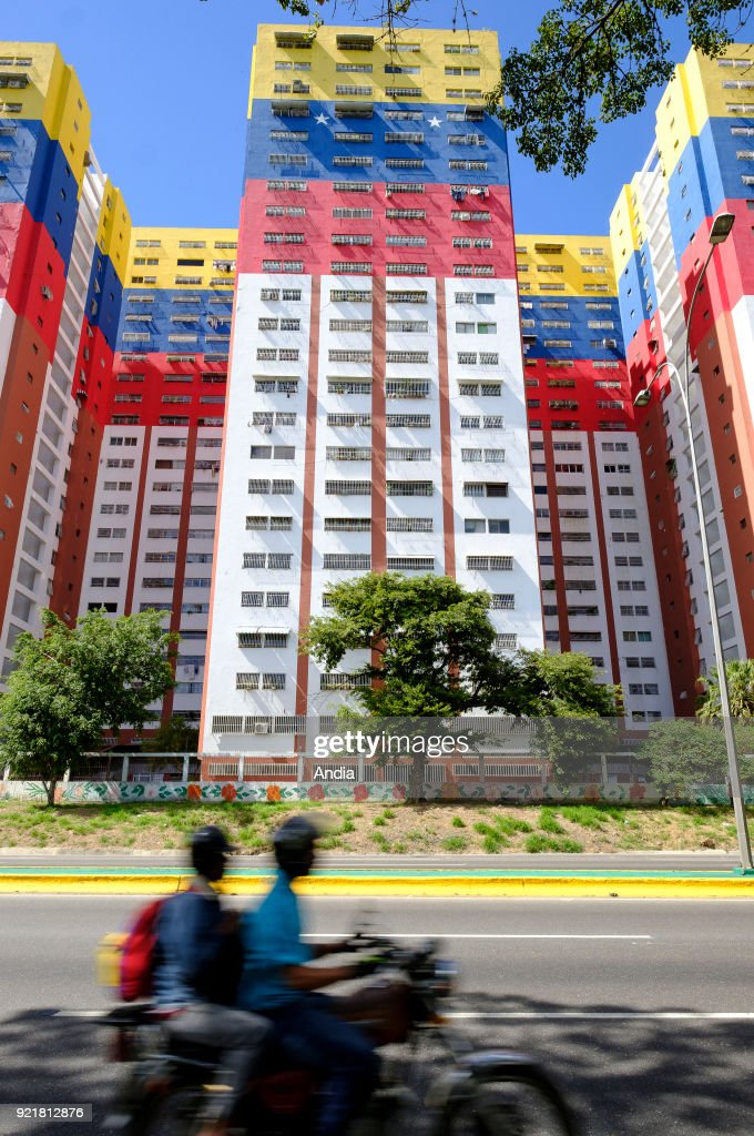 Santiago de Leon de Caracas, buildings. : News Photo