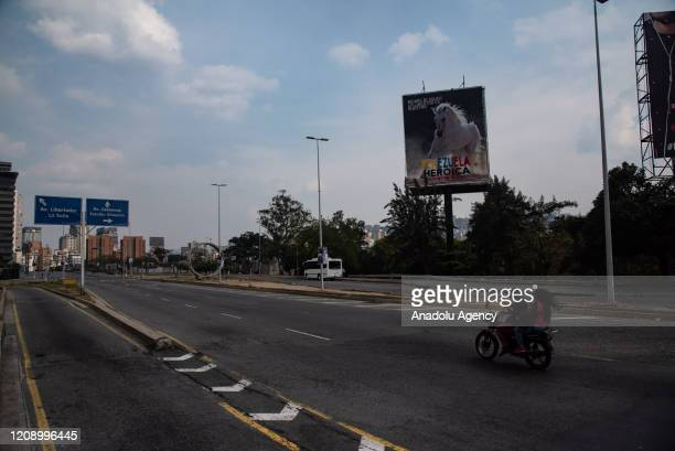 Venezuela Square is seen empty as a preventive measure against the new type of coronavirus pandemic in Caracas, Venezuela on April 02, 2020.