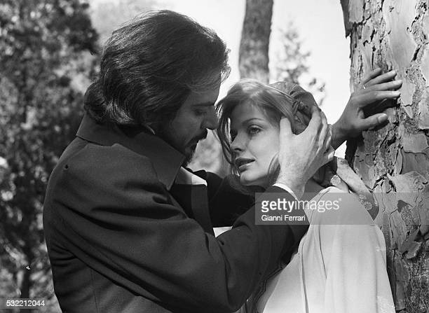Venezuelan actor Spartaco Santoni and Swedish actress Ewa Aulin in a scene from the film 'Ceremonia Sangrienta' Madrid Spain 1973
