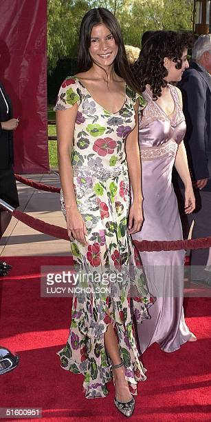Venezuelan actress Patricia Velasquez arrives at the premiere of her new film The Mummy Returns at Universal City in Los Angeles 29 April 2001 AFP...