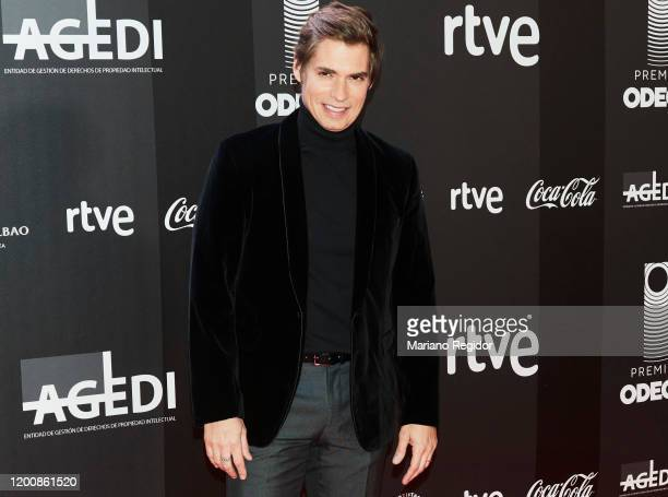 Venezuelan artist Carlos Baute attends Odeon Awards 2020 at Royal Theater on January 20 2020 in Madrid Spain