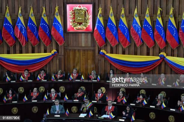 Venezuelan Attorney General Tarek William Saab Venezuelan President Nicolas Maduro Venezuela's Supreme Court president Maikel Moreno and the...