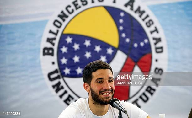 Venezuelan basketball player Greivis Vasquez of the New Orleans Hornets from the NBA is seen before giving a workshop with children from deprived...
