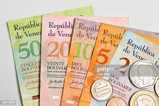 Venezuelan coins and notes ( Bolivar Fuerte )