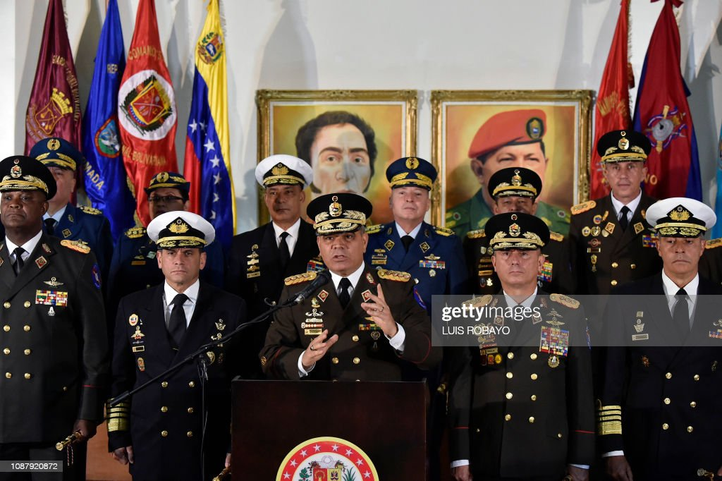 VENEZUELA-CRISIS-DEFENSE-PADRINO : News Photo