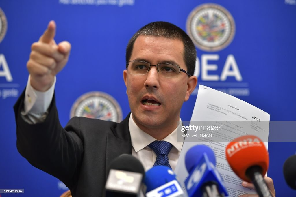 US-VENEZUELA-OAS-DIPLOMACY-ARREAZA : News Photo
