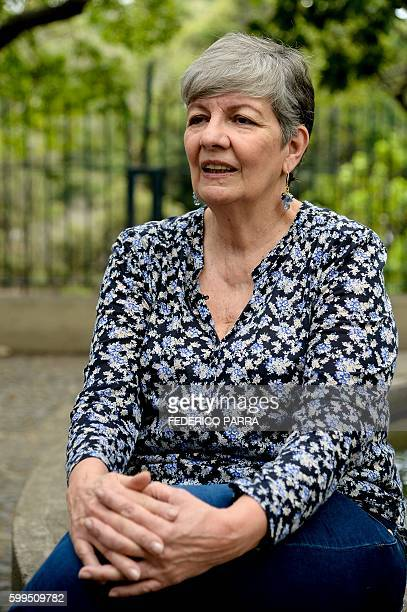 Venezuelan former environment minister Ana Elisa Osorio gives an interview to AFP in Caracas on August 29 2016 Osorio who campaigned for President...
