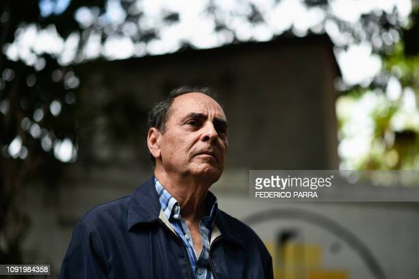 Venezuelan Former Minister of Education Hector Navarro poses during an interview with AFP in Caracas on January 17 2019 After embracing the...