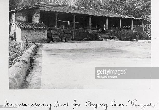 A Venezuelan hacienda with a large front court used for cocoa drying Venezuela 1897