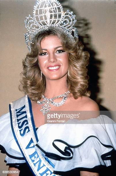 Venezuelan Irene Saez, Miss Universe 1981, 20th July 1981, New York, USA.