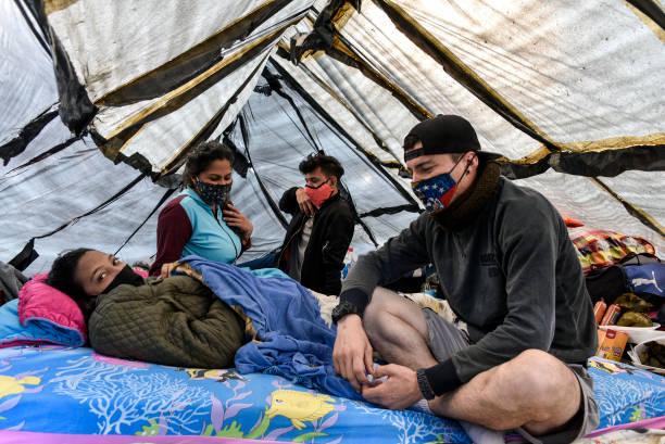 COL: Venezuelan Migrants Camp In Bogota Waiting To Return Home