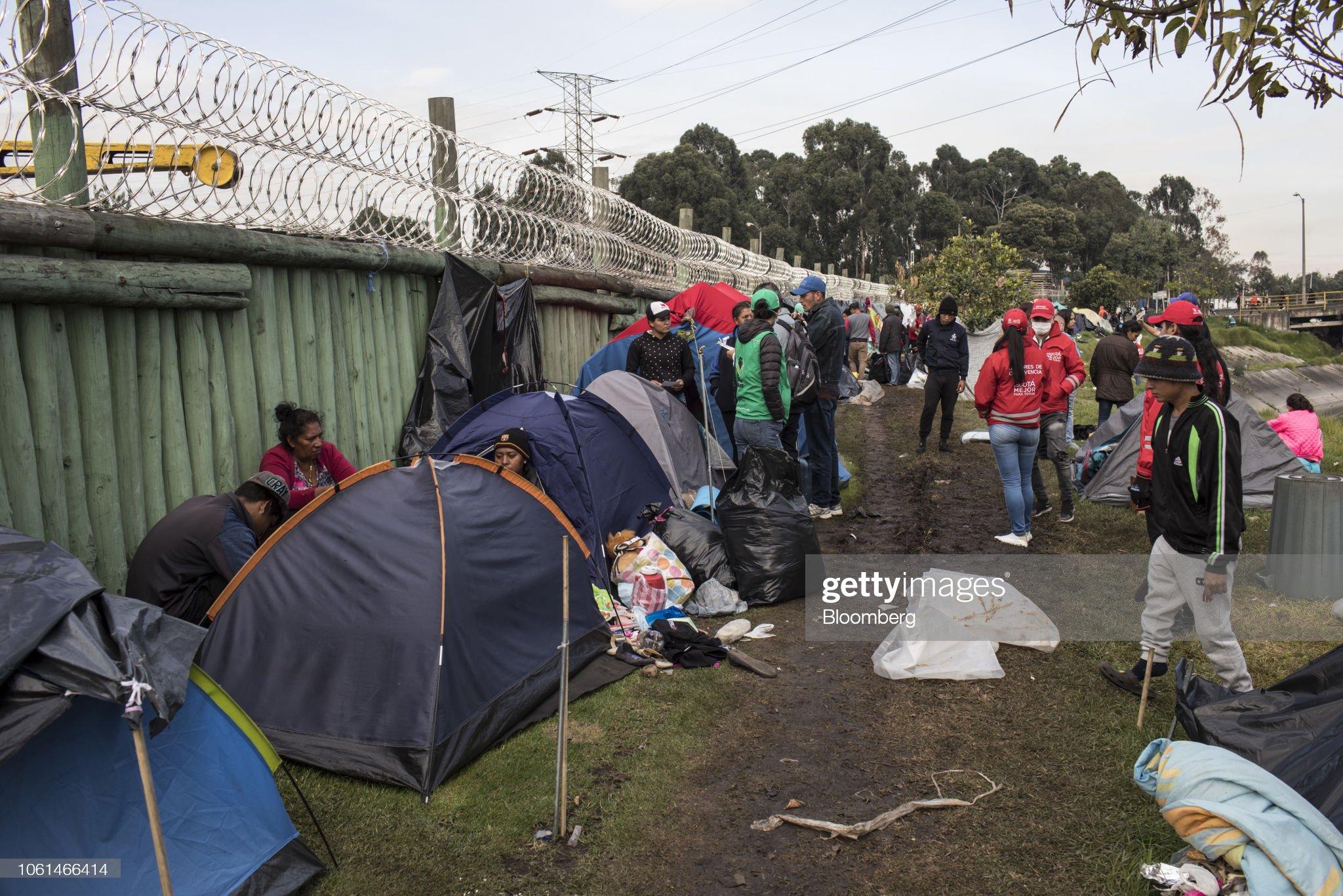 Colombia Sets Up Shelter For Venezuelan Migrants Amid Mass Exodus : Fotografía de noticias