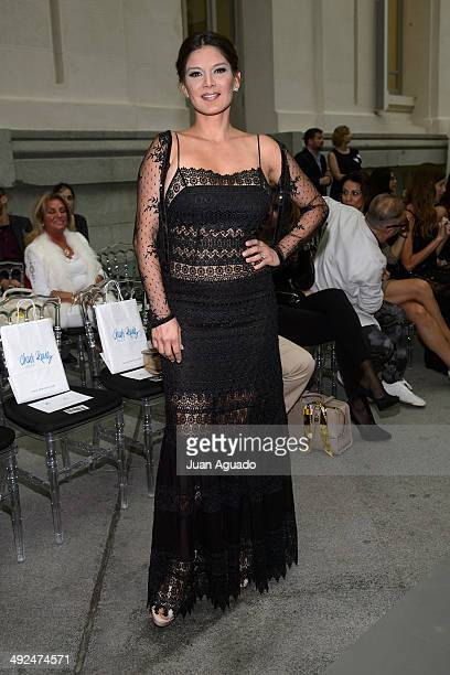 Venezuelan Model Ivonne Reyes attends to 'Costura Espana' Fashion Show on May 20 2014 in Madrid Spain